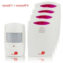 Wireless Digital Driveway Patrol Alarm System Sync 4Receiver