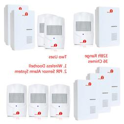 1byone Wireless Doorbell PIR Alarm System LED Motion Sensor