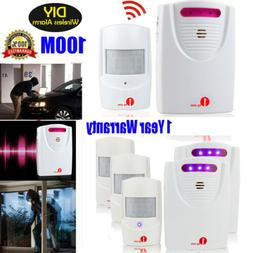 Wireless Driveway Motion Detector Garage Shed Alarm System S