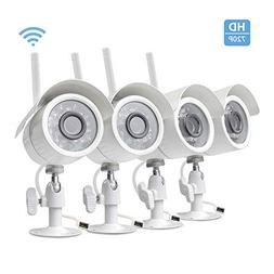 Zmodo 4 Pack Wireless Security Camera System with Motion Det