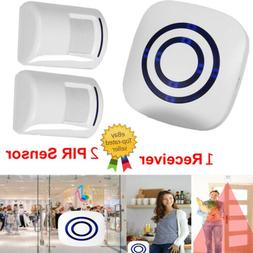 Wireless Sensor Motion Detector Doorbell Door Chime Set Secu