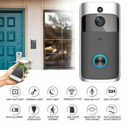 wireless smart wifi doorbell ir video visual